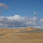 Wind farm on the california hills