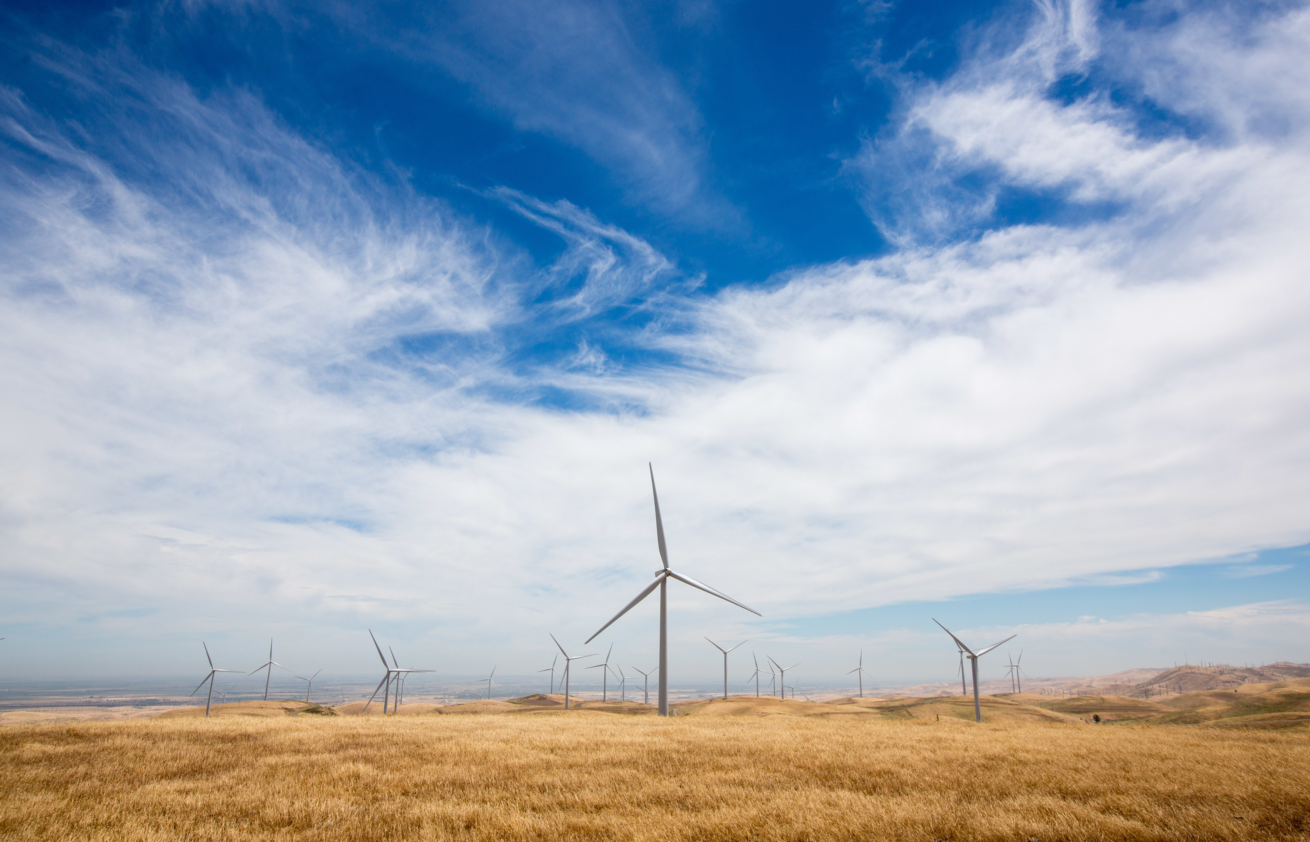 Golden Hills Wind Energy Center in Tracy, California on May 24, 2017