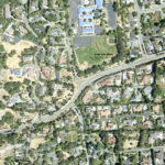 Aerial view of master planned community.