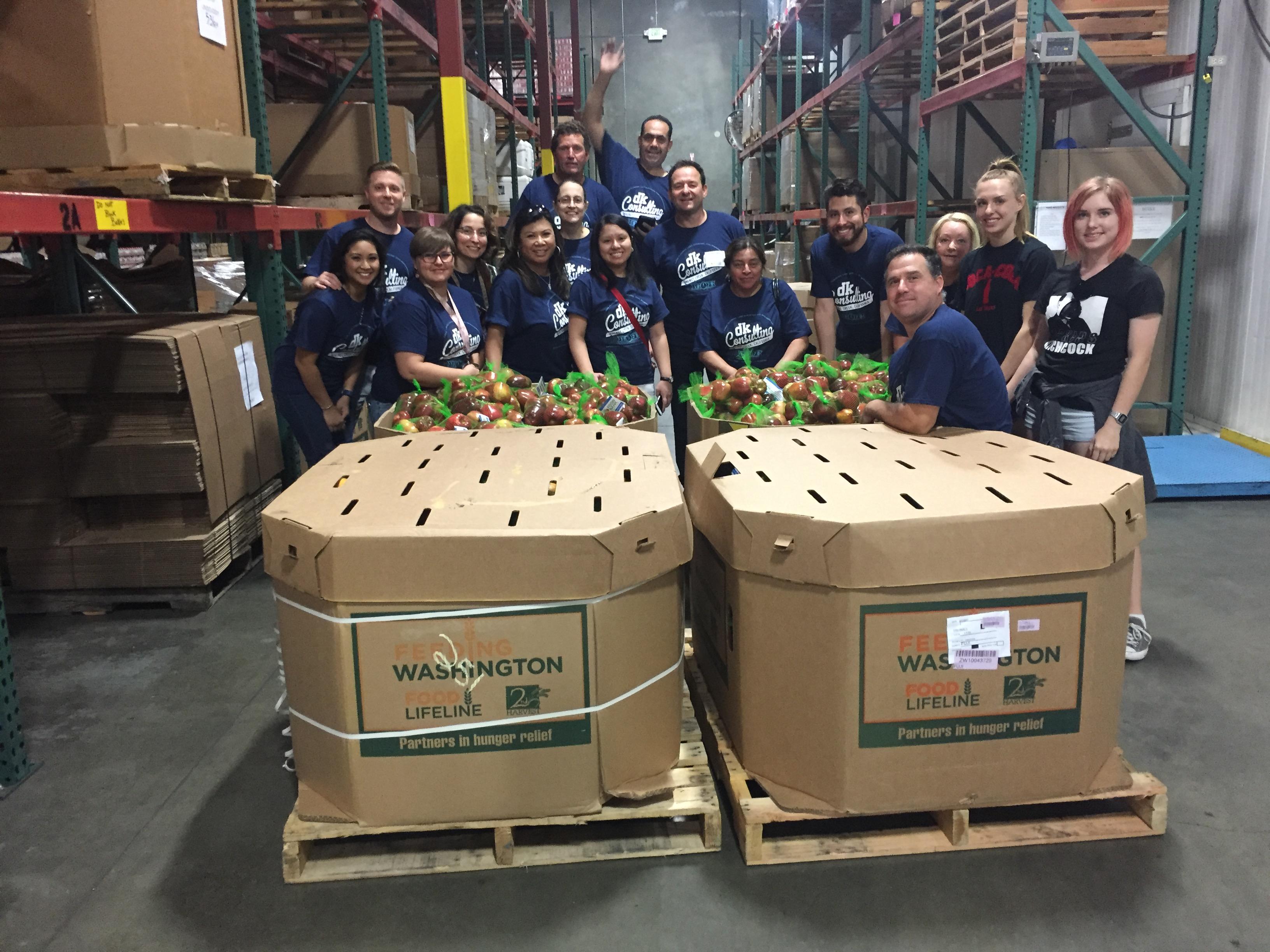 dk Engineering staff volunteering at the food bank