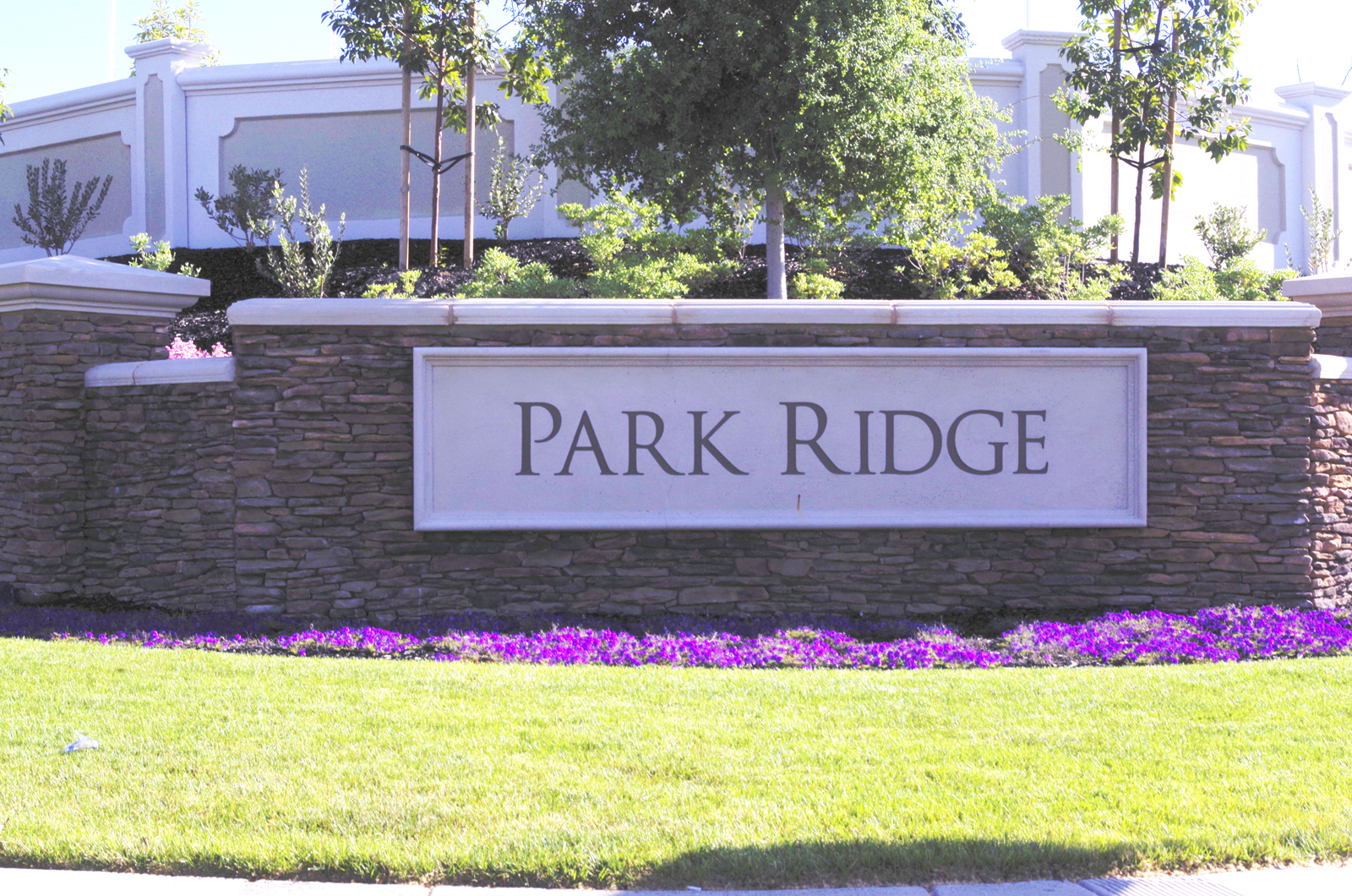 Park Ridge neighborhood entrance